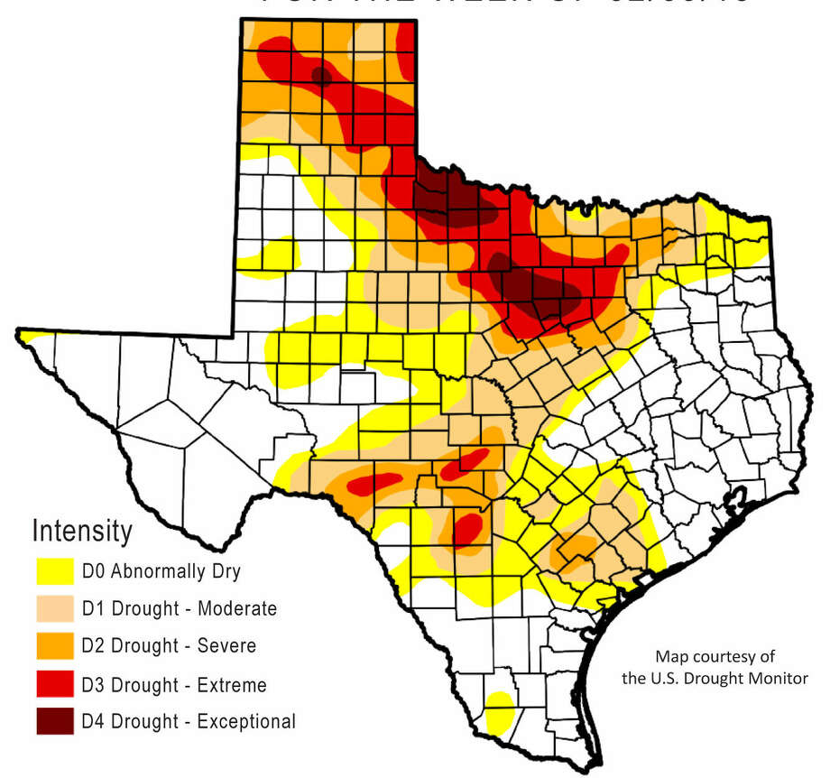 Weekly synopsis of Texas drought conditions Photo: Texas Water Development Board