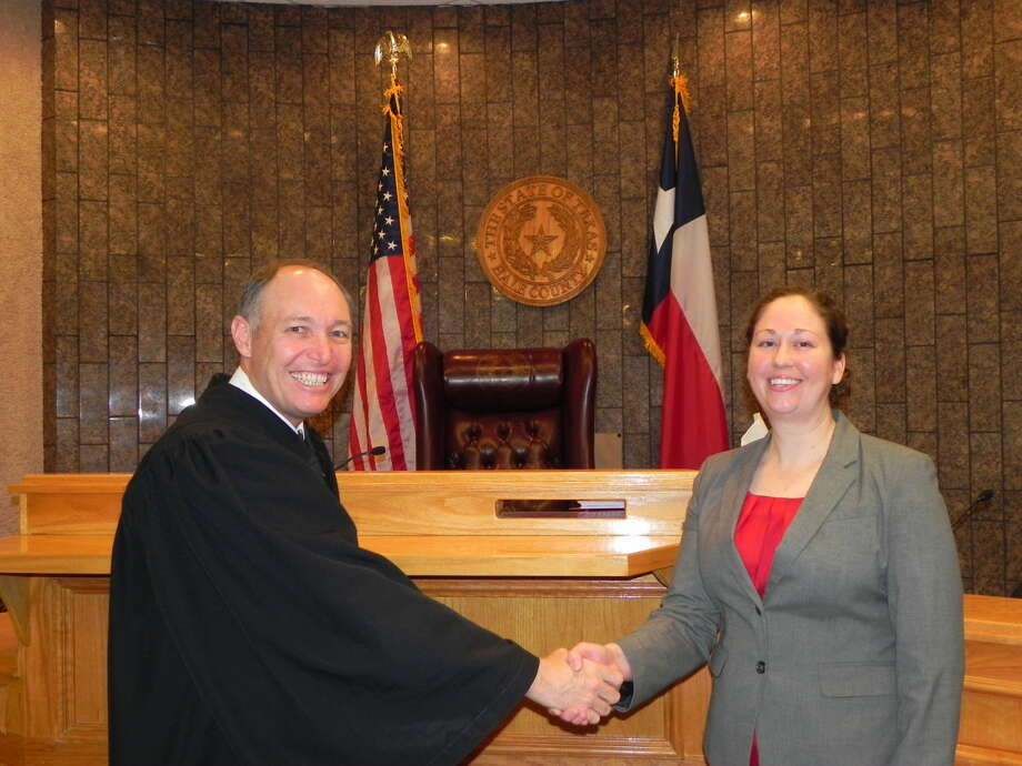 District Judge Rob Kincaid welcomes back Danah Zirpoli as the new first assistant to the district attorney's office. Photo: Courtesy Photo