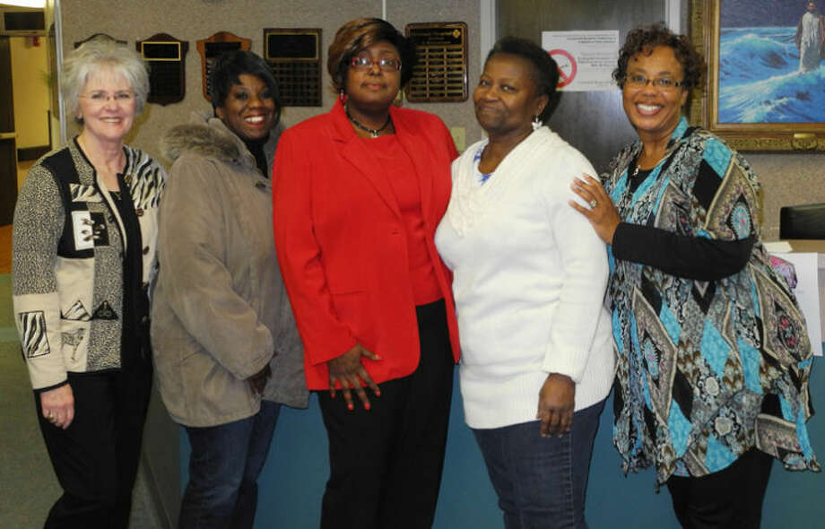 Members of the Cancer Support Group meet the first Tuesday of each month from 7-8 p.m. in Conference Room B of Covenant Hospital Plainview. Pictured are: Andrea Ingram (left), Makeba Jackson, Nina Green, Etta Walker and Sherry Wall. Photo: Gail M. Williams | Plainview Herald