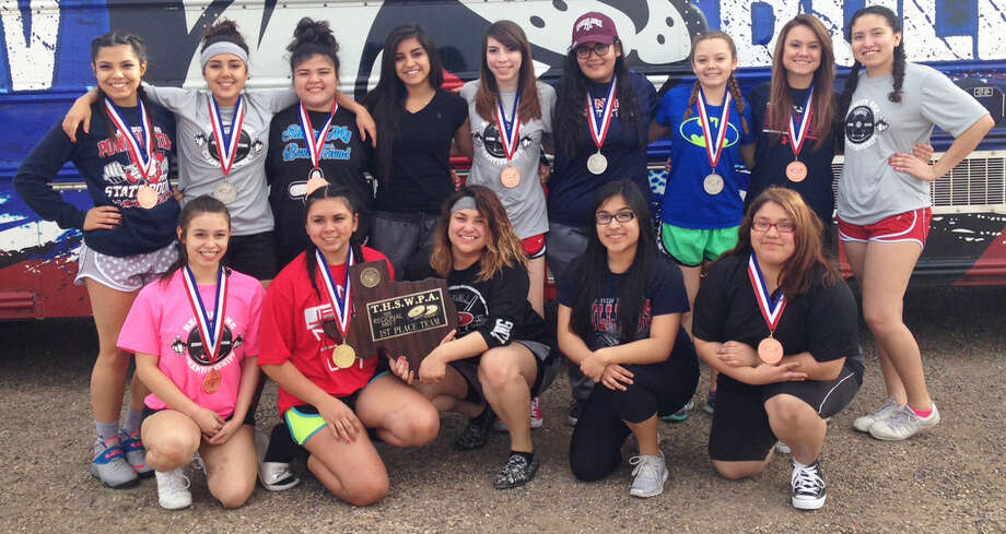 The Plainview girls powerlifting team won the regional championship Saturday at Fort Stockton and qualified nine for the state championships April 2 in Abilene. Photo: Courtesy Photo