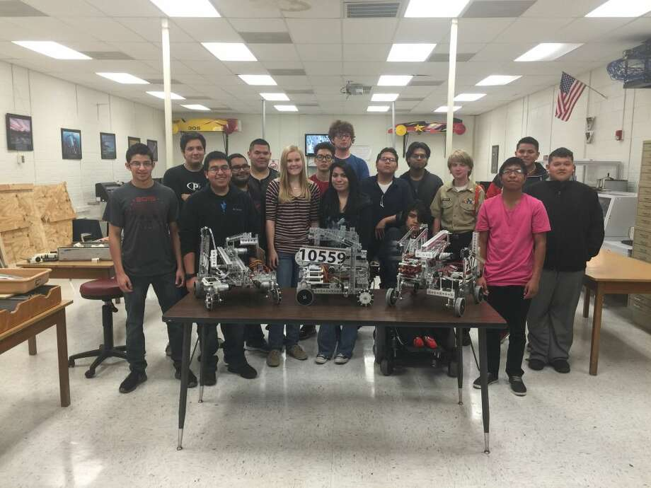 Plainview's robotics teams had a strong showing at the 2016 FTC Panhandle Plains Regional competition this past weekend. Team members in the photo include Angel Ramos, Slade Dehoyos, Nathanial Vaquera, Antonio Zambrano, Derek Adame, Fernando Marin, Jimmy Rodriquez, Alex Ray, Matthew Hastey, Angelica Pantoja, Morgan Conley, Armando Gonzalez and Javier Vaquera. Photo: Homer Marquez/Plainview Herald