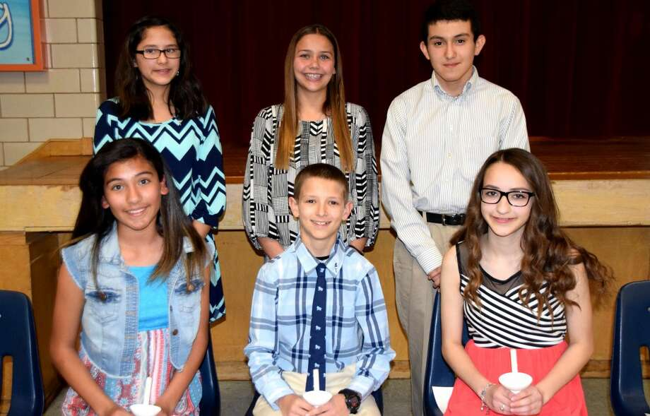 Seventh Grade InducteesJan Seago/Plainview ISDSeventh grade inductees into the Estacado National Junior Honor Society are Jenna Sepeda (seated left), Michael Rhoades, Lauren Mayo, Maranda McCready (standing, left), Aspin Miller, Jeremiah Armijo and Isabel Campos (not shown).