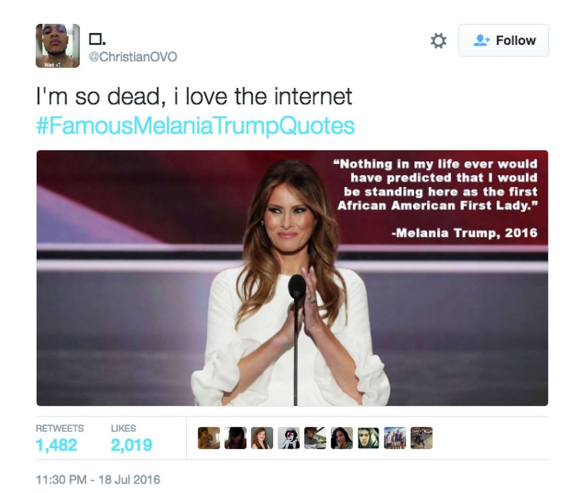 The internet mocked Melania Trump after her RNC address was found to be suspiciously similar to an old speech of Michelle Obama's.