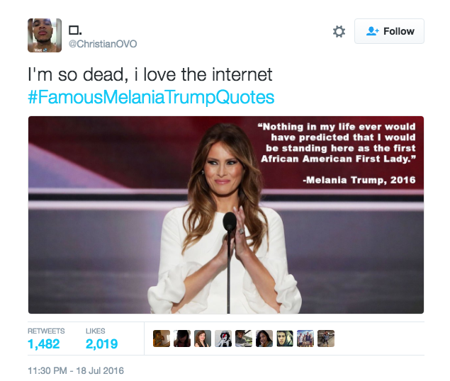 Melania Trump Gets Roasted By The Internet After Lifting