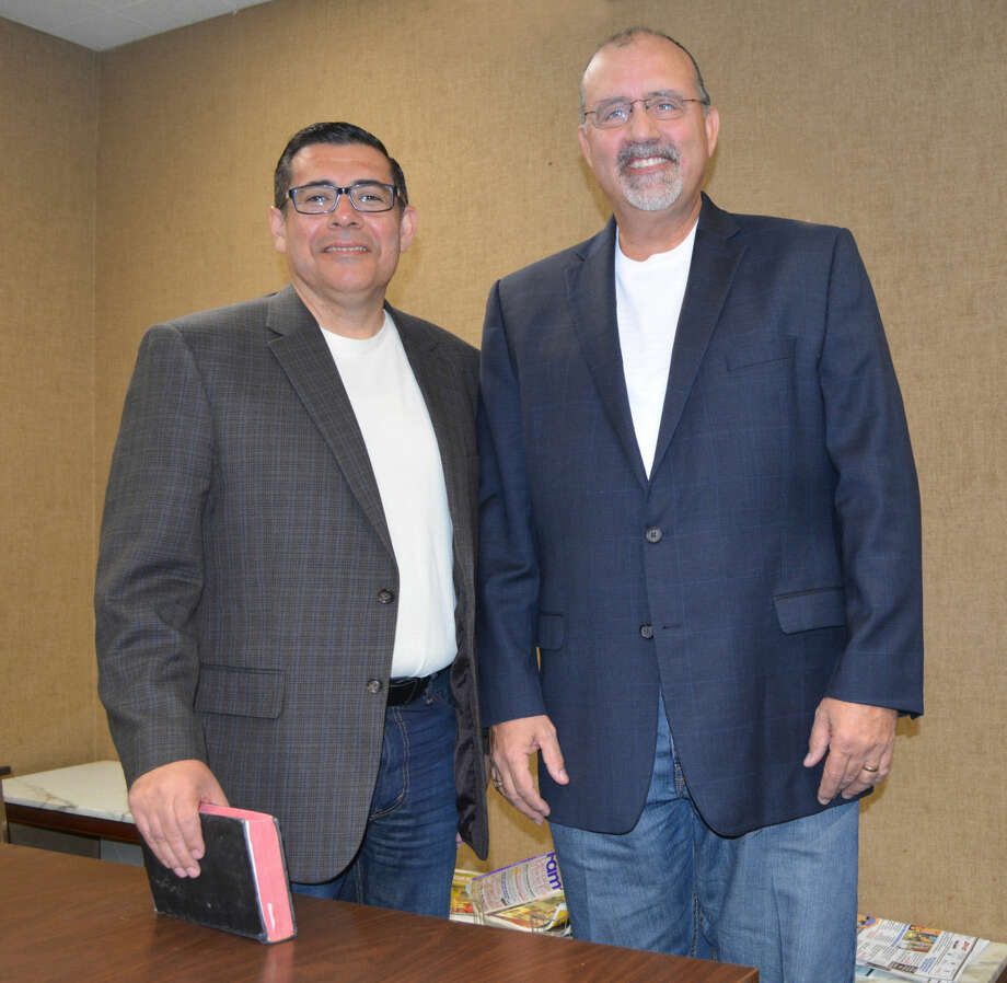 Church MergerDoug McDonough/Plainview HeraldSteve Martinez (left), pastor of New Life Church, and Steve Rogers, pastor of Trinity Fellowship, have brought their congregations together to form Trinity Life Church. The unified congregation will meet in a special celebration service at 10:45 a.m. Sunday, Feb. 15, at Harral Auditorium, with a dinner to follow at the Ollie Liner Center.