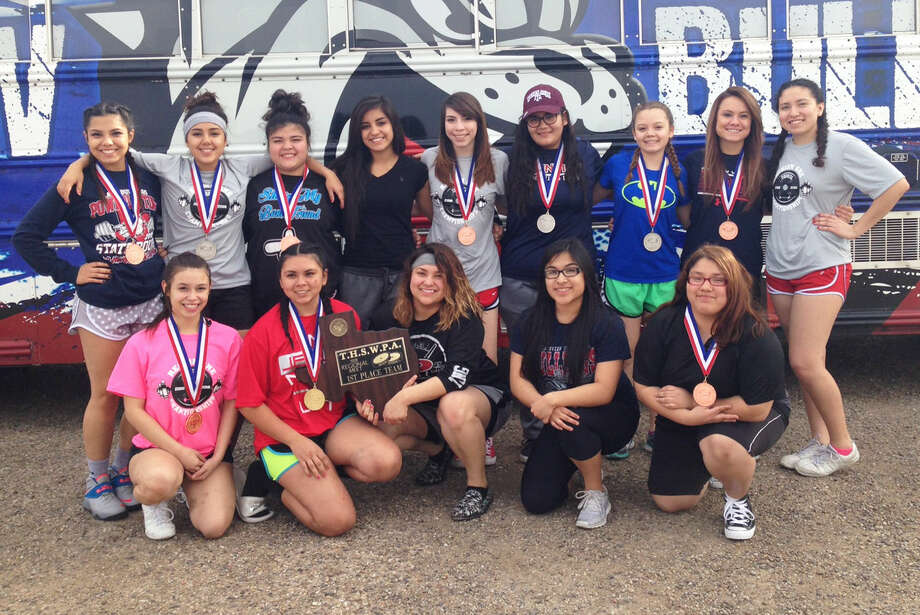 The Plainview girls powerlifting team, shown after winning the regional title, will have nine lifters competing in the state meet at Corpus Christi Saturday. That includes two regional champions and four lifters who are returning state qualifiers. Photo: Courtesy Photo