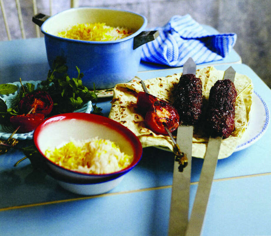 "Lamb kebabs, cooked on or off skewers, are a delicious example of Middle Eastern street food. Credit: Yuki Sugiura for ""New Middle Eastern Street Food: Snacks, Comfort Food and Mezze from Snackistan"" by Sally Butcher; Interlink Books, 2013."