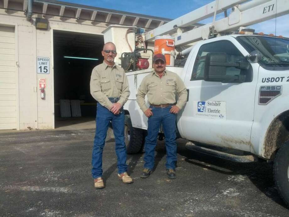 Swisher Electric Cooperative foreman Randy Gore and journeyman Henry Cruz to travel to Austin next month to receive a lifesaving award after saving a stroke victim's life. Photo: Homer Marquez/Plainview Herald