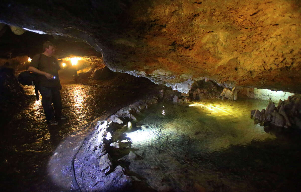 Cascade Caverns President Lance Kyle is worried the new well and pipeline might dry up springflows in the cavern and further threaten at-risk salamander species that live there.