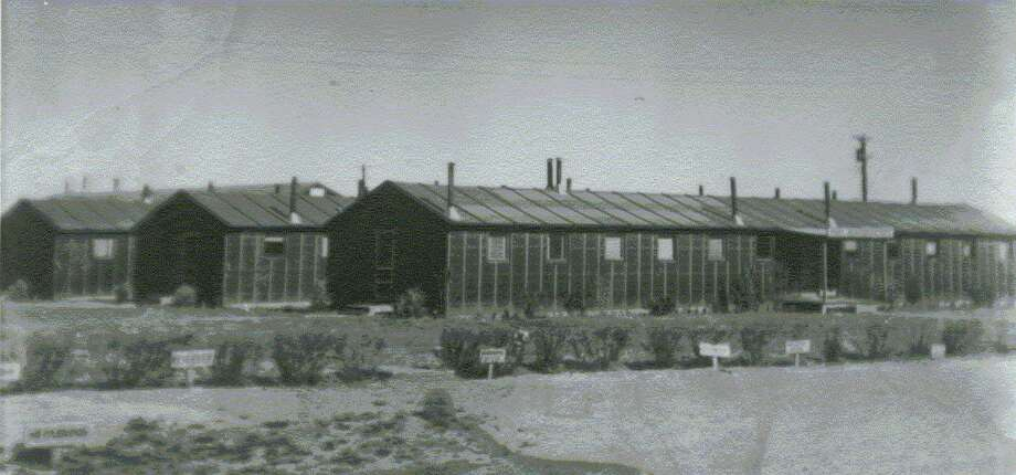 This photo from 1943-44 shows the tarpaper barracks at the Dalhart Army Air Force Base where combat glider pilots trained during World War II. They are typical of the period.