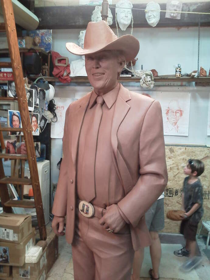 Phil Riggan/philriggan.comThe final clay cast of the 7-foot Jimmy Dean statue that will soon call Plainview home. The statue features Dean' signature hat and belt buckle. Photo: Phil Riggan/philriggan.com
