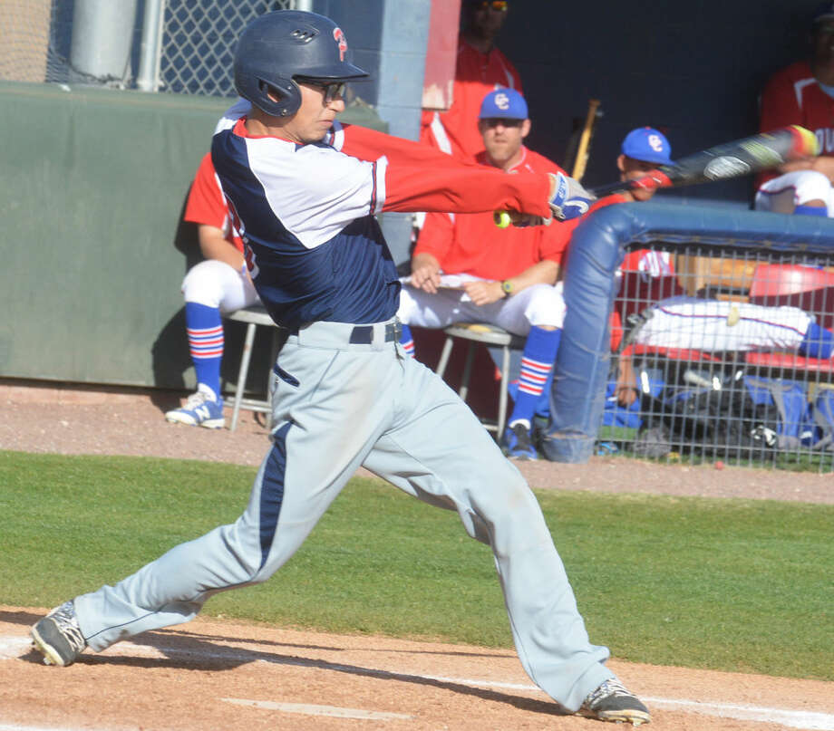 Plainview's Christian Gomez gets good extension on a swing during a game earlier this season. The Bulldogs take on state-ranked Lubbock Cooper at 5 p.m. Friday at Bulldog Field. Photo: Skip Leon/Plainview Herald