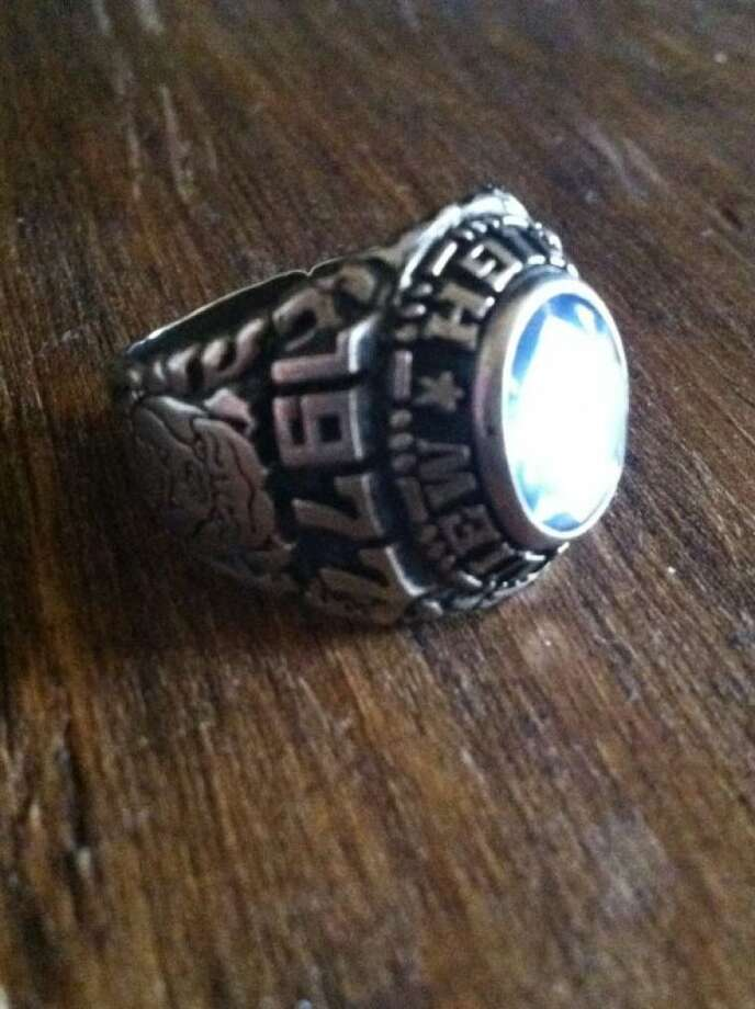 A 1977 Plainview High School senior ring that had been lost for almost 35 years found its way home to owner Greg Oldfield of Amarillo last week, after a Shallowater Middle School librarian reached out to the Herald to find its owner. Sharon Ware's father found the ring in the early 1980s while cleaning dorm rooms between semesters at Lubbock Christian University. Photo: Courtesy Photo