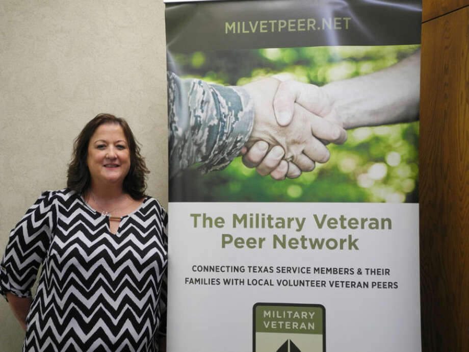 Angie Nelms, a volunteer coordinator for Military Veteran Peer Network, has set up shop at 631 Broadway where she meets with veterans, services members, spouses and relatives of veterans in an effort to provide needed support.