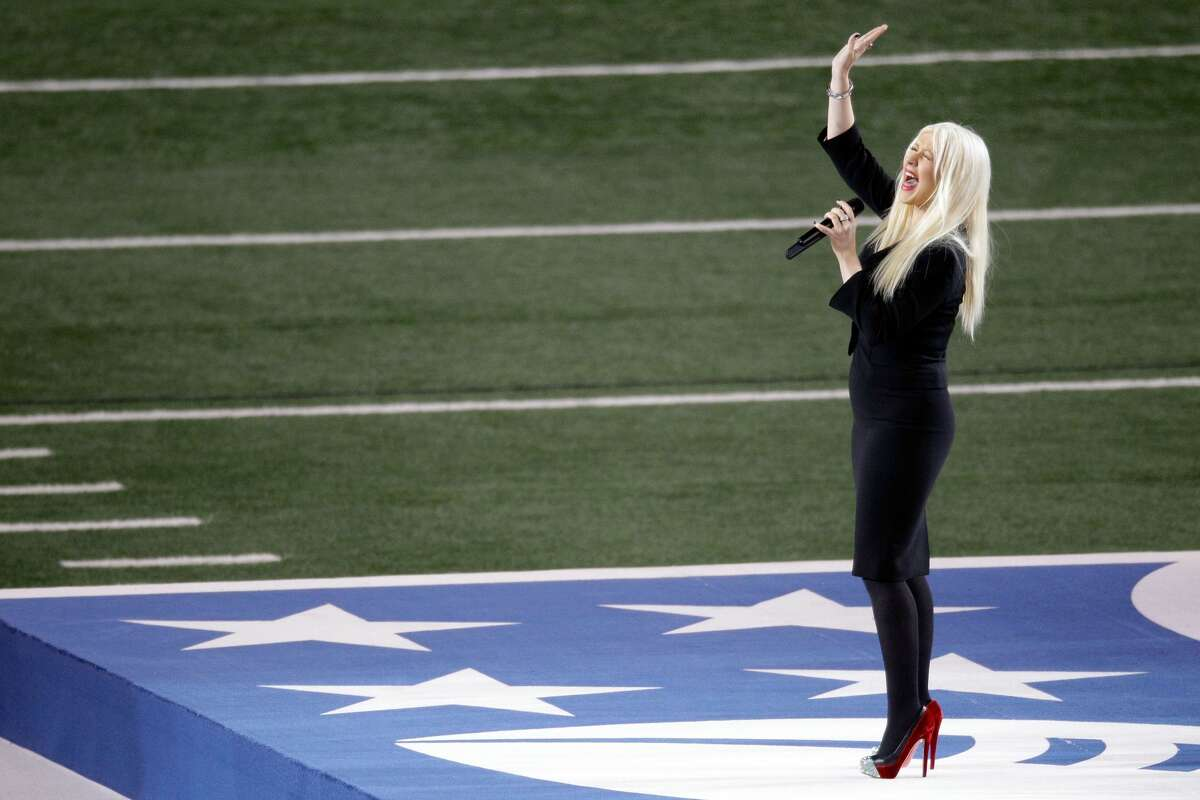 At the 2011 Super Bowl, Christina Aguilera performed a live rendition of the national anthem featuring a slight change of lyrics. The singer accidentally combined and botched the song when she proudly sung,