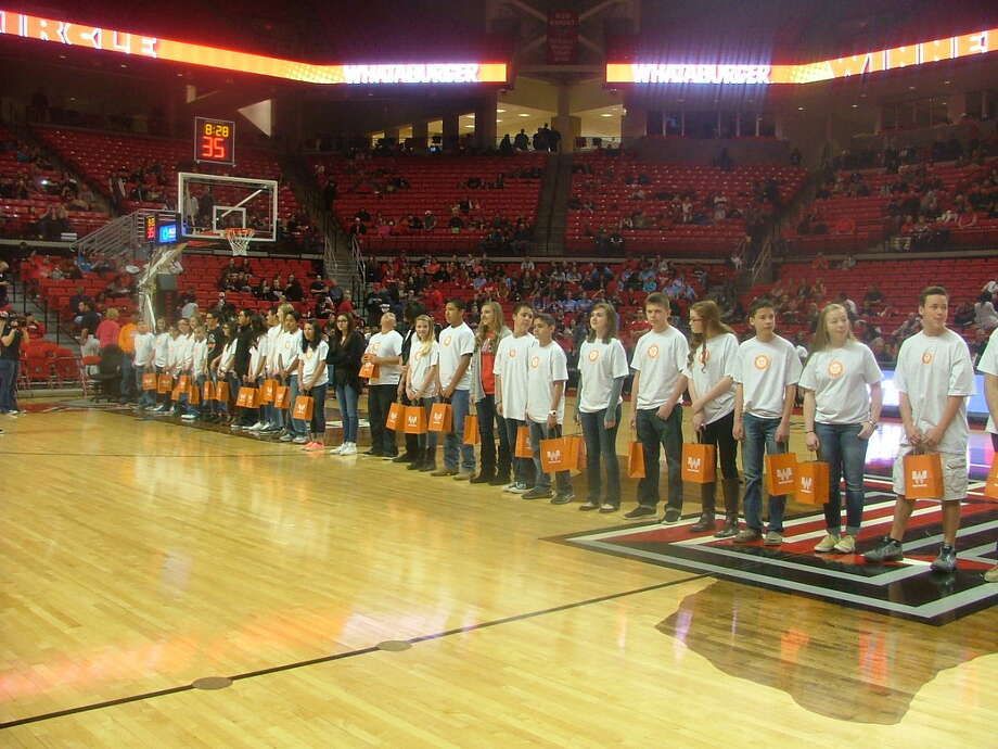 Local and area middle school students were introduced last weekend at the Texas Tech Red Raiders basketball game against Oklahoma as members of Whataburger's Winner's Circle. The program recognizes academic achievement as well as community and family involvement.