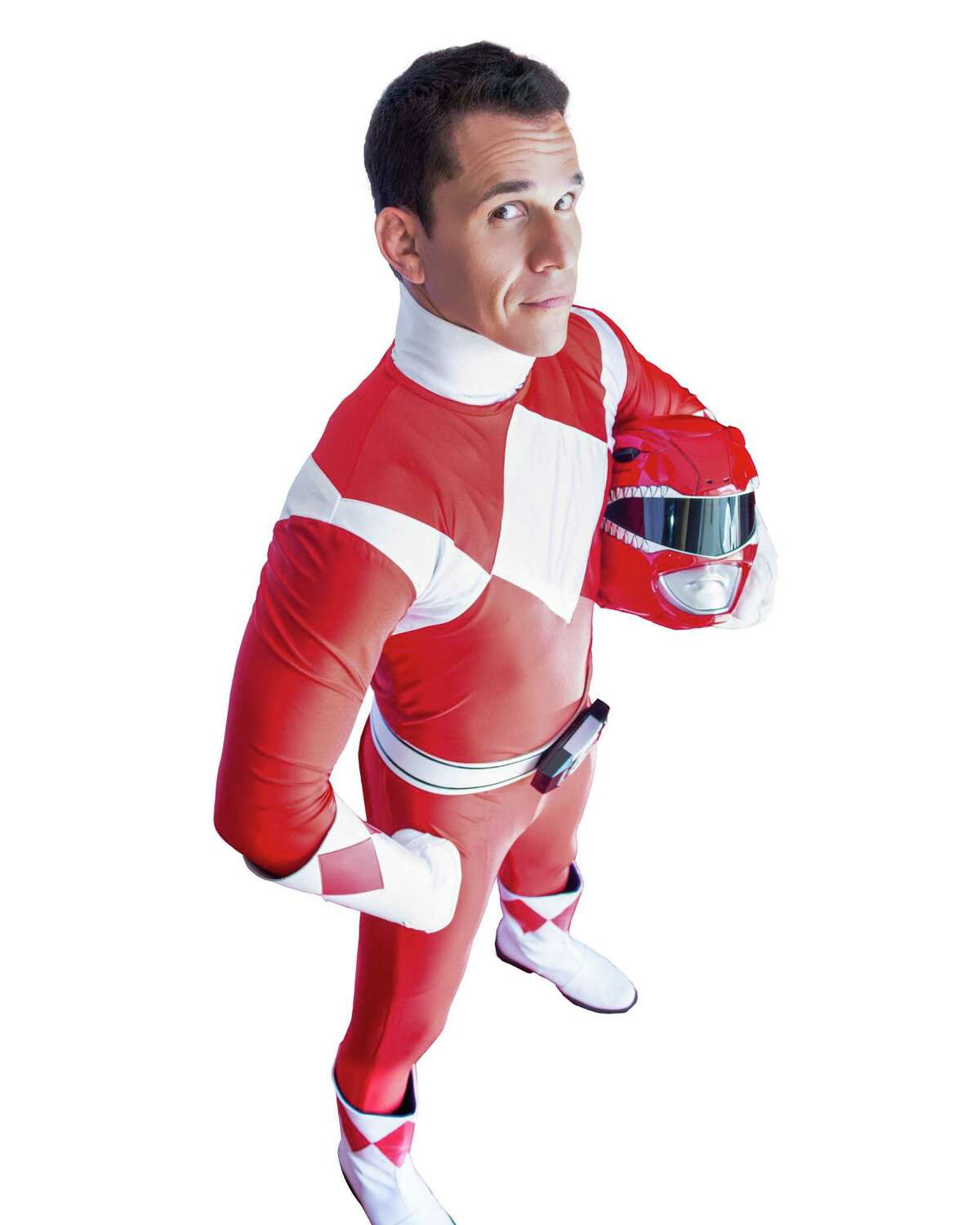 Steve Cardenas of San Antonio had loads of fun in his signature red suit as 'Power Ranger' Rocky DeSantos and welcomes the new movie with Bryan Cranston.
