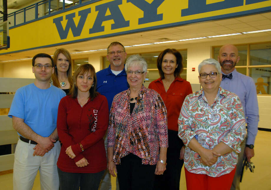WBU Award Recipients Jonathan Petty/Wayland Baptist University Wayland Baptist University employees received special recognition for their service and dedication to their jobs on Friday. Pictured are award winners Dr. Scott Strovas (front left), Brandy Haines, Carolyn Andrews, Beverly Steed, Teresa Moore (back left), Dr. Kevin Sweeney, Dr. Cindy McClenagan and Dr. Rick Shaw.