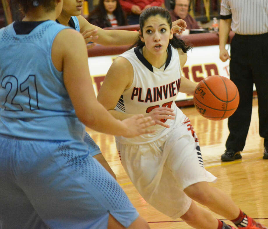 Plainview's Karli Wheeler drives to the basket during a postseason playoff game. Wheeler was voted the district Player of the Year for the third consecutive season. She led the Lady Bulldogs in scoring, assists, rebounds and free-throw shooting. Photo: Doug McDonough/Plainview Herald