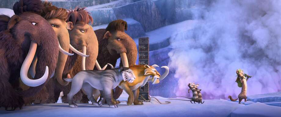 "Ray Romano, Queen Latifah, Keke Palmer, Adam Devine, Jennifer Lopez, Denis Leary, Seann William Scott, Josh Peck and Simon Pegg are among the many voices in ""Ice Age: Collision Course."" Photo: Twentieth Century Fox, TNS"