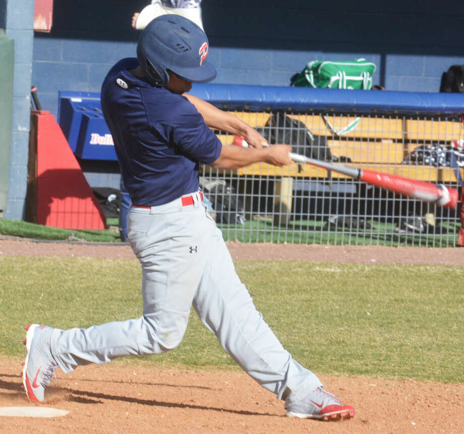 Plainview leadoff hitter Danny Martinez swings for a hit during a scrimmage earlier this season. The Bulldogs won two of three games at the Tournament of Champions in Midland Friday.  Photo: Skip Leon/Plainview Herald