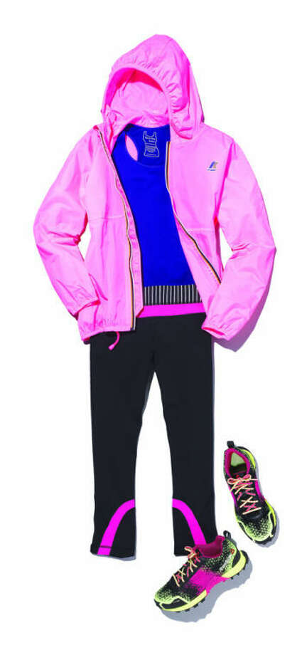 ShopSmart, the shopping magazine from the publisher of Consumer Reports, suggests pulling together a look that can work beyond the gym with a pretty matching jacket.