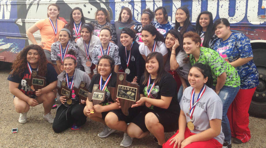 The Plainview girls powerlifting team won their fourth consecutive regional championship at Fort Stockton Saturday. Three Lady Bulldogs won their weight classes and 10 lifters qualified for the state meet. Photo: Courtesy Photo