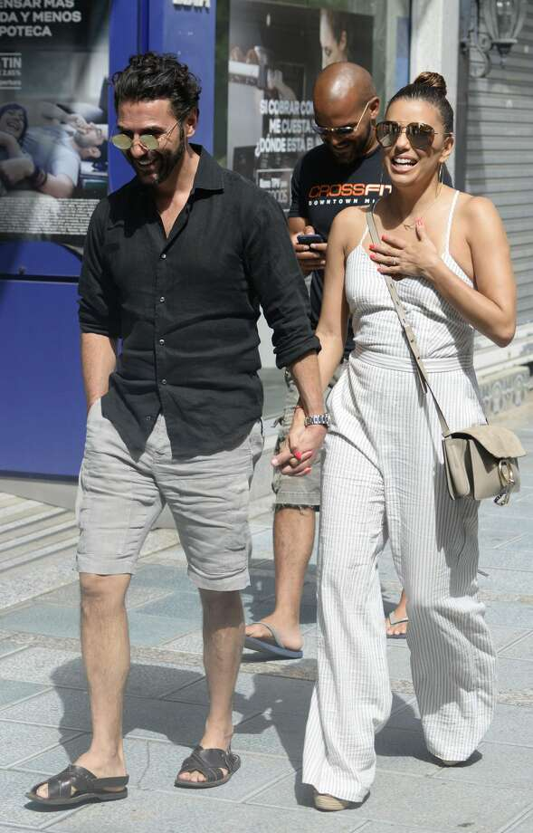 Eva Longoria seen shopping with new husband in Marbella, Spain ...