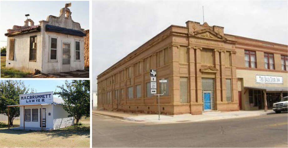 Photo Courtesy PreservationTexas Historic resources of Dickens County, including various structures and other locations in both Dickens and Spur are on reservation Texas' 2015 list of the states most endangered places. The group offers as examples (clockwise from upper left) at small stucco building in Spur, the Spur National Bank building and the law office of H.A.C. Brammett in Dickens. Photo: Evan Thompson