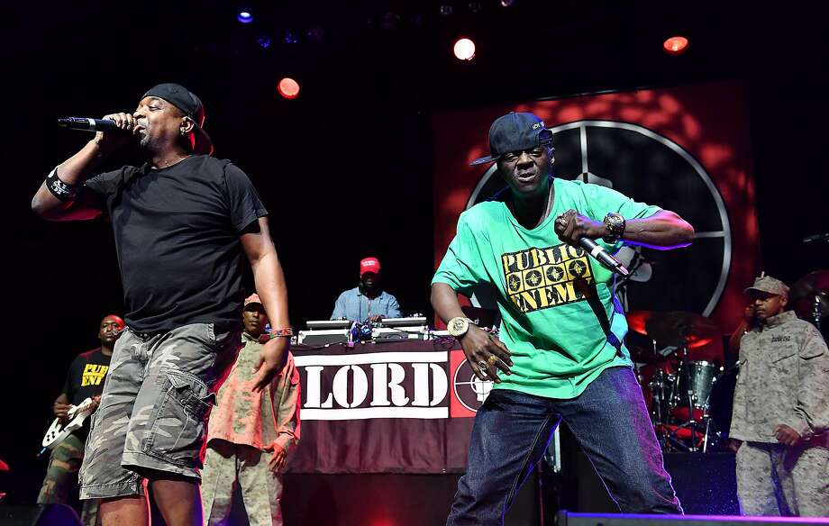 Rappers Flavor Flav, right, and Chuck D of the band Public Enemy perform at the O2 Arena in London, Thursday, June 16, 2016. (Photo by Mark Allan/Invision/AP) Photo: Mark Allan, Associated Press