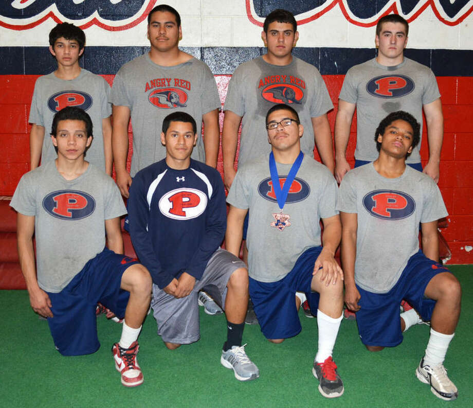 Plainview was well-represented at the Texas State High School Powerlifting Association state championships Saturday. Bulldogs who qualified or were alternates included front row (from left) Elijah Zambrano, Danny Gallardo, Domingo Saucedo and Zane Ponder. Back row (from left) Derek Adame, Moises Garcia, Erik Mendez and Trenton Jones. Not pictured are Ignacio Romero and Anthony Washington. Photo: Skip Leon/Plainview Herald