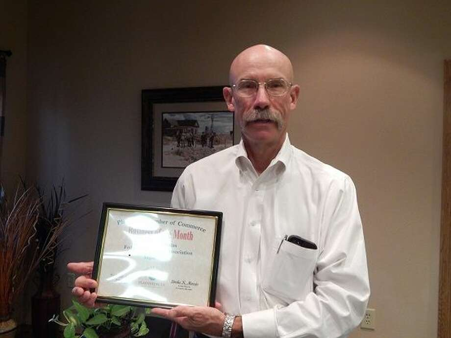 Panhandle Plains Land Bank, FLCA, represented by Senior Vice President Kenneth Hooper, is the Chamber of Commerce Business of the Month. It is a locally owned cooperative association specializing in long term loans for farms, ranches, agribusiness and recreational property. The local office at 629 Baltimore serves Briscoe, Floyd, Hale, Motley and part of Hall counties.