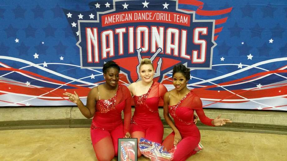 Wayland's dance team of Sarafina Pride (left), Madeline Parch-Bradley and Dominique McGill placed fifth at the American Dance/Drill Team Nationals in Denton.WBU dance team places fifth at nationalsBy Wayland Baptist University