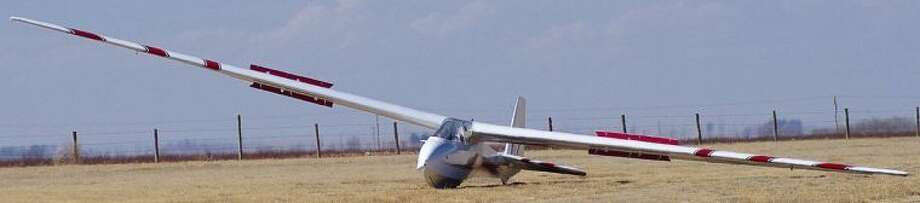 This German K7 glider, owned and operated by Plainview pilot Eddie Hoglan, lost a wing Saturday while airborne over the Littlefield airport. The resulting crash killed both Hoglan, 79, and his 13-year-old passenger, Taylor Brown.