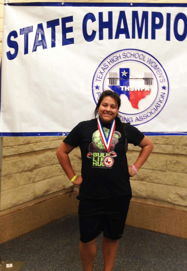 Plainview's Mercedes Hernandez earned a medal for finishing in fifth place in the 198-pound weight class at the Texas High School Women's Powerlifting Association State Championships in Corpus Christi Friday. Photo: Courtesy Photo