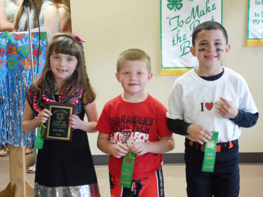 Clover Kids: Rachel Walden (left), Mason Hart and Brance Lecker Photo: Courtesy Photo