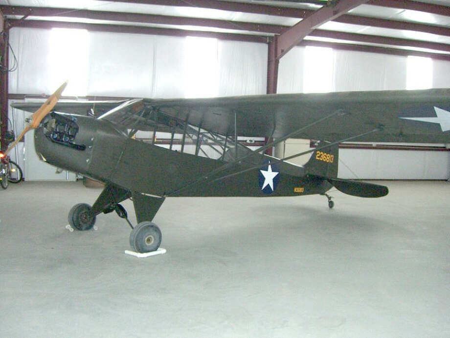 This U.S. Army Air Forces Piper Cub L-4A was used in training by Clent Breedlove to train combat glider pilots during World War II at Lubbock, Plainview and Lamesa.