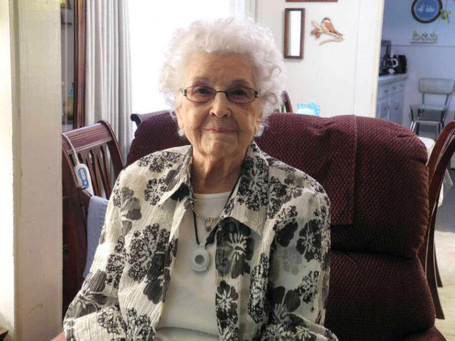 Hazel Schwartz, 99, grew up on a farm with 12 brothers and sisters. She turns 100 on May 27. Photo: Gail M. Williams | Plainview Herald