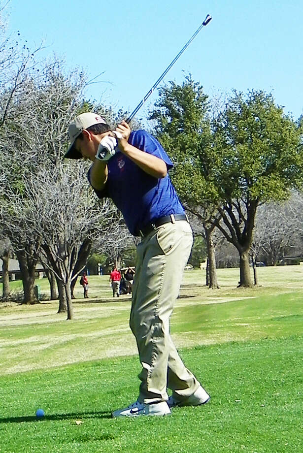 Plainview's Isaiah Garcia prepares to hit a shot during the first round of the District 4-5A golf campaign at Fairway Oaks Country Club in Abilene Tuesday. Garcia carded an 81 and is in fourth place heading into the second round next week at the Plainview Country Club. Photo: Photo Courtesy Of Betsy Lewis