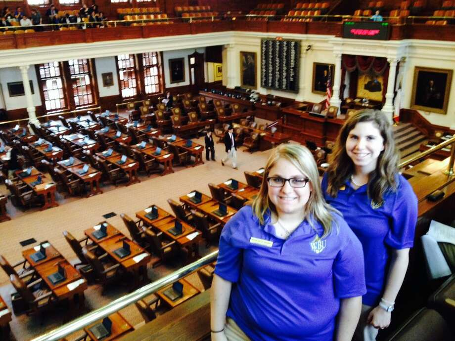 Among the stops on the quick capitol trip was sitting in on the House of Representatives morning session, where Lauren Chase and Olivia Bybee got to hear proceedings from the gallery.