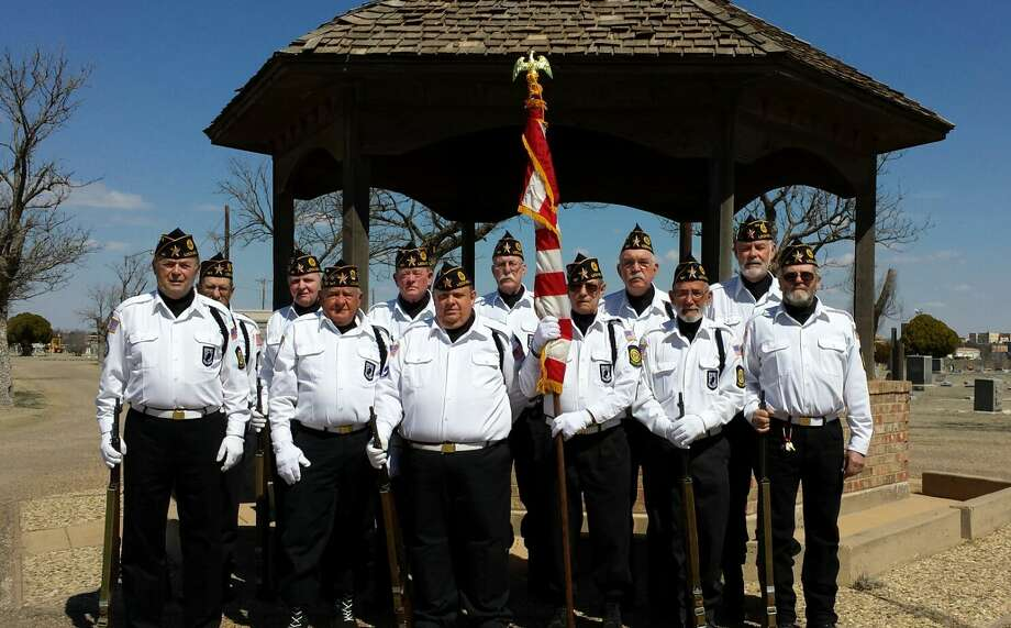 Active since 2008, the American Legion Post 141 Honor Guard from Lockney includes Jim Doucette (front left), Ed Marks, Lee St. Dennis, Roy Ray, Gary Graham, Gary McCain, Melvin Vanlandingham (back left), Jim Durham, Bill Hunter, Sam Moore, Cecil Jones and Greg Patridge.