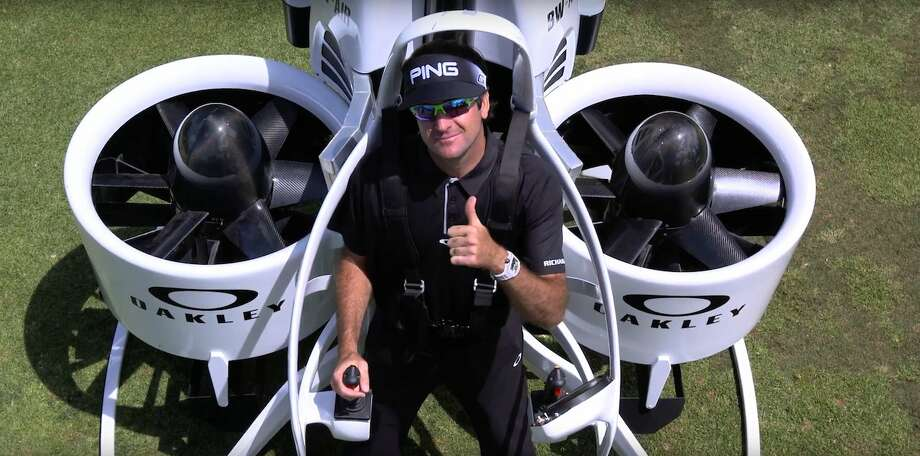 Oakley and Bubba Watson teamed up to make the jetpack video in the lead-up to next month's Olympics, where Watson will represent Team USA and be the top-ranked golfer in the field. Photo: YouTube