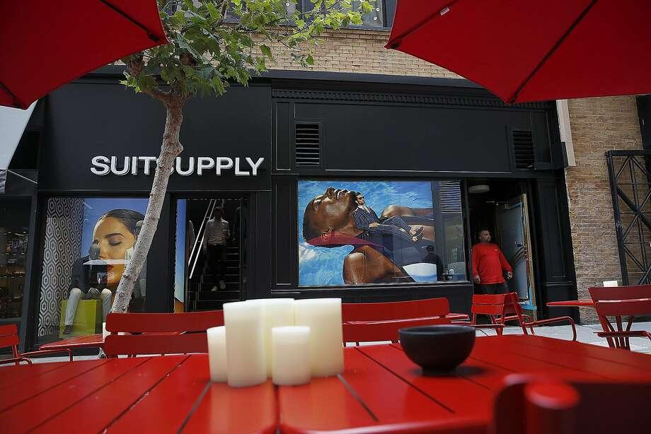 The exterior of Suitsupply on Maiden Lane near Union Square. Photo: Liz Hafalia, The Chronicle
