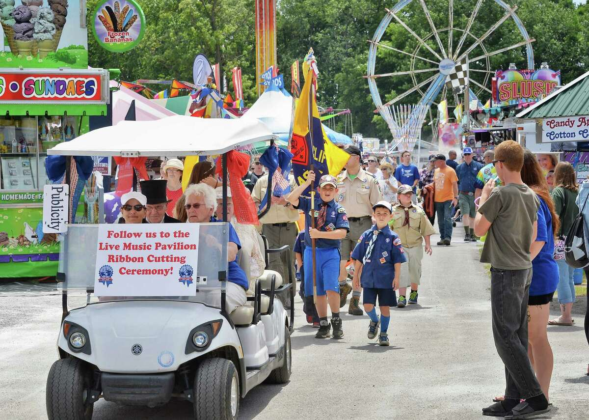 An opening day parade through the midway marks the 175th Saratoga County Fair Tuesday July 19, 2016 in Ballston Spa, NY. (John Carl D'Annibale / Times Union)