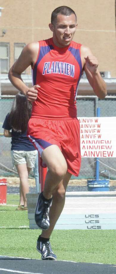 Plainview's Jarel Rosas, shown competing in a track meet earlier this season, won the 1600-meter run at the Hereford Invitational Thursday to help his team to a second-place finish. Photo: Skip Leon/Plainview Herald