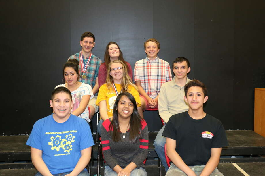 PHS academic UIL team members placing in the district competition include Jorge Gonzalez (front left), Meghaben Bhakta, Sabastian Ramos, Elia Martinez (center left), Emily Franklin, Eric Thomashide, Cameron Hurta (back left), Darcie Mason, and Grayson Tirey. Not shown are Abbi Hanoch, Jonathan Soder and Trey Perez.