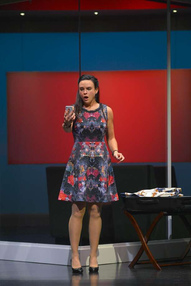 Maddie (Jessica Lynn Carroll), the daughter of a presidential candidate, receives a shocking photo. Photo: Kevin Berne, TheatreWorks