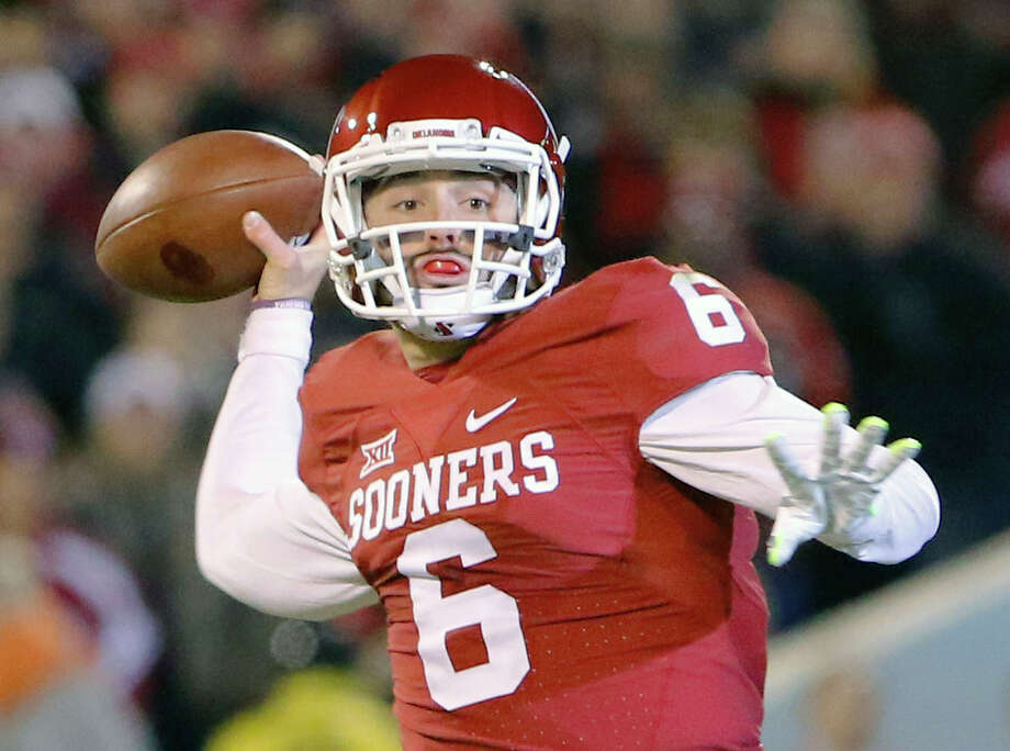 737d1afb3 Baker Mayfield booked on public intoxication charges - San Antonio ...