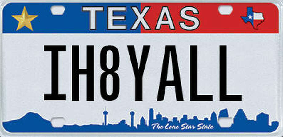 These are some of the personalized license plates the Texas Department of Motor Vehicles has rejected since January 2016. Photo: Texas Department Of Motor Vehicles