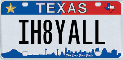 License plates rejected by the Texas DMV since Jan. 2016